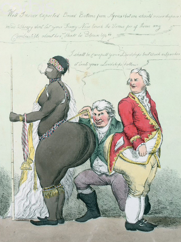 """A Pair of Broad Bottoms"", a caricature by William Heath showing William Grenville"