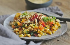 thai cauliflower rice salad