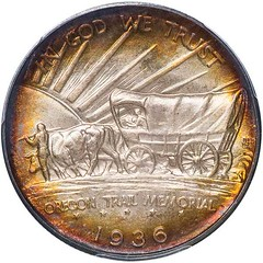 1936 Oregon trail Half Dollar reverse