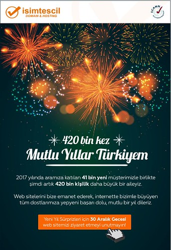 İsimtescil Yeni Yıl Maili