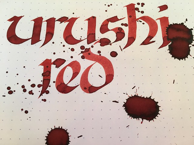 Ink Shot Review Franklin-Christoph Urushi Red @1901FC 8