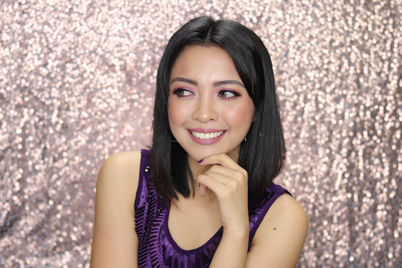 2 New Year's Glam Makeup Look 2018 Ultra Violet - Gen-zel She Sings Beauty