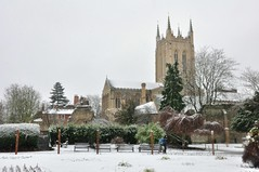 Bury St Edmunds In The Snow