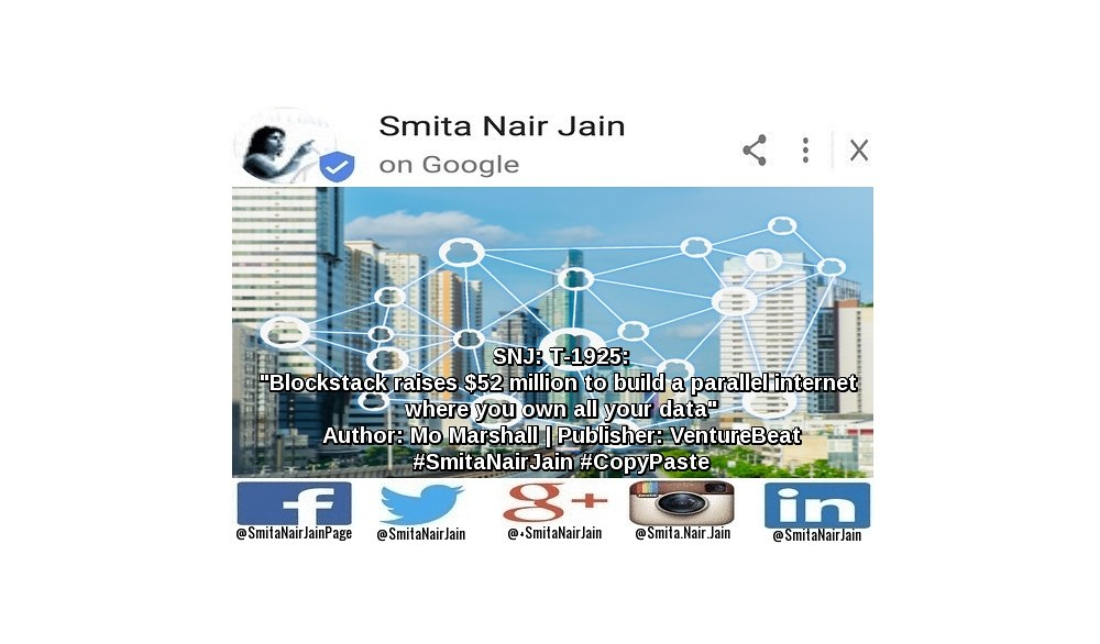 Smita Nair Jain on #Google   SNJ: T-1925: