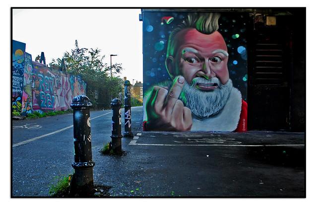 BAD SANTA STREET ART by WOSKERSKI