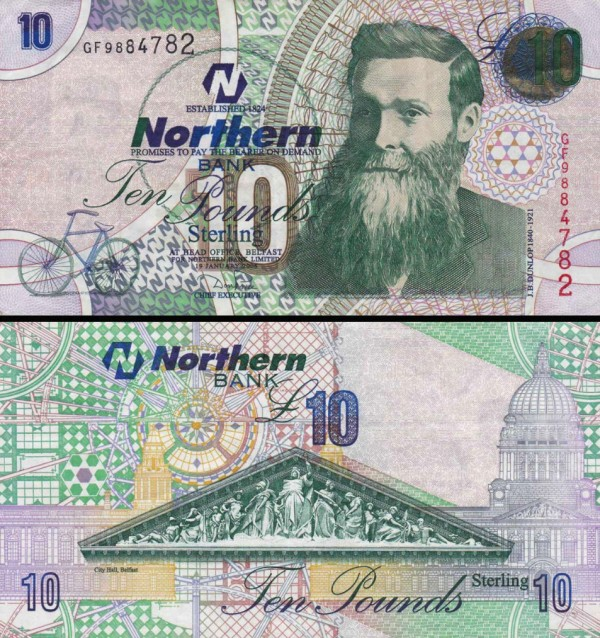 10 Libier Severné Írsko 2005, P206a Northern Bank LTD