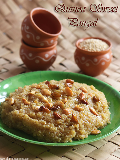 quinoa sweet pongal recipe