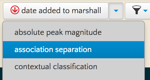 marshall sort dropdown