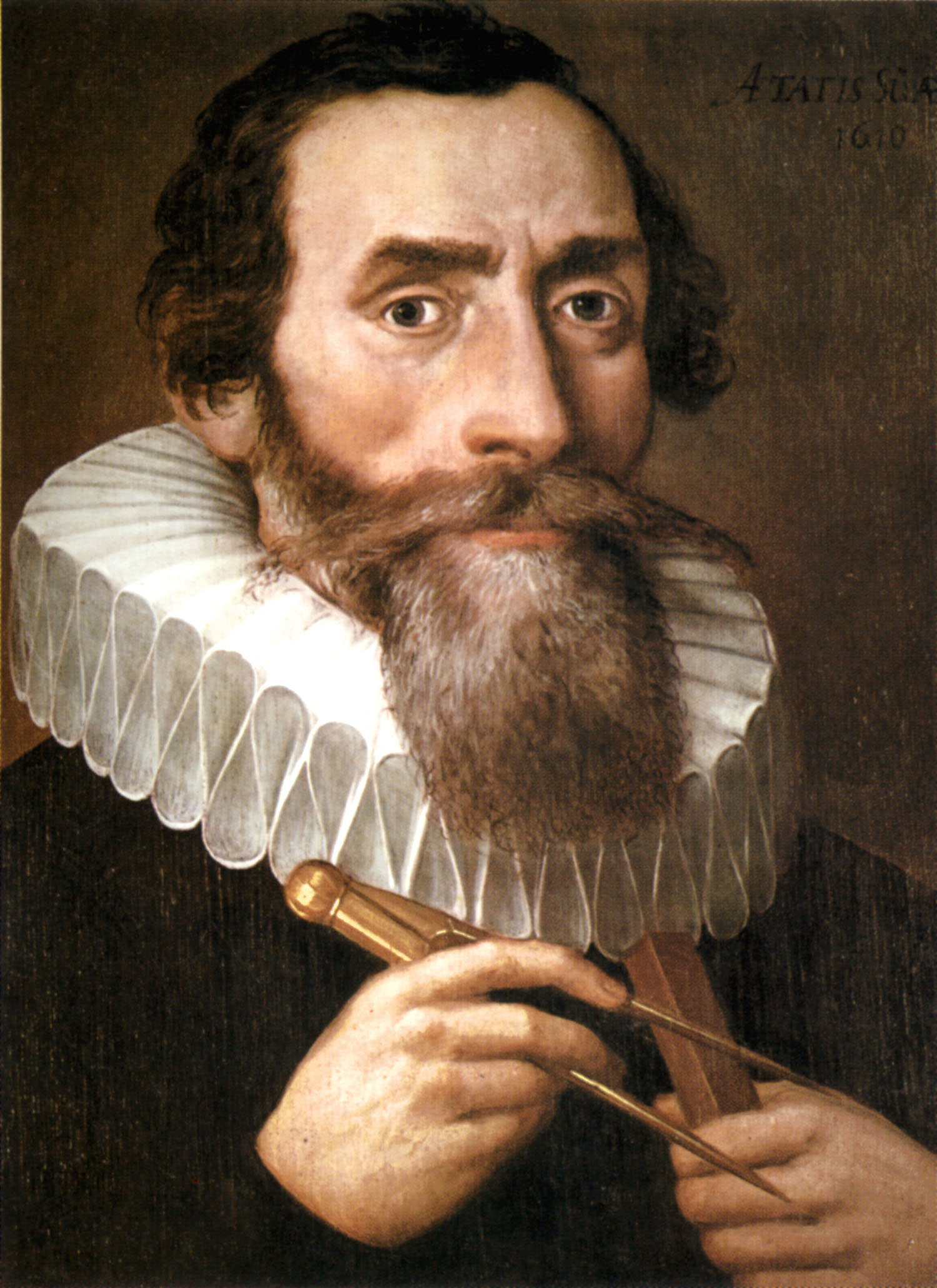 Portrait of Johannes Kepler by an unknown artist. Copy of a lost original from 1610 in the Benedictine monastery in Kremsmünster.