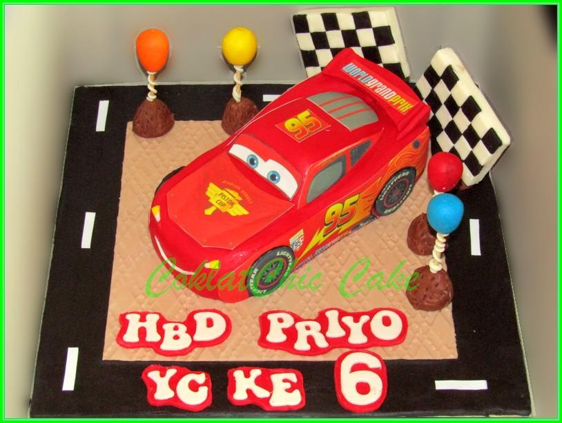 Cake Lighning McQueen Cars PRIYO 15cm