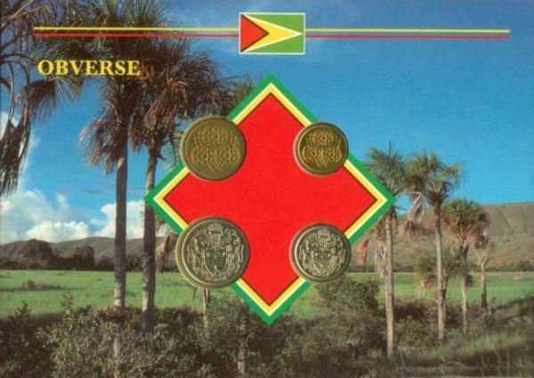 Sada mincí Guyana 1-5-10-25 Centov 1990-1992