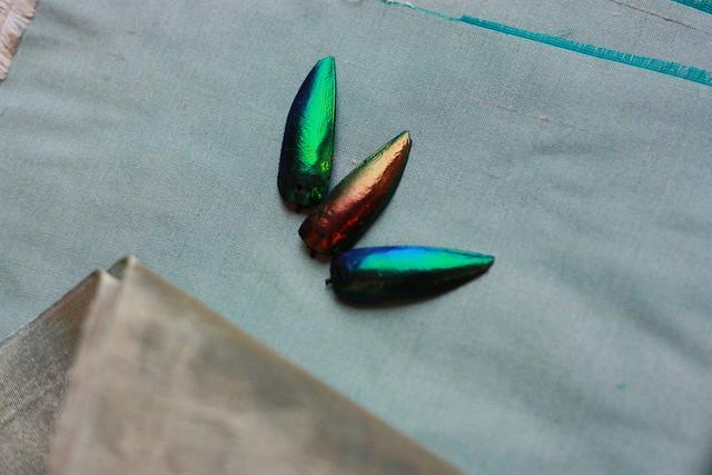 Echantillon vert-or