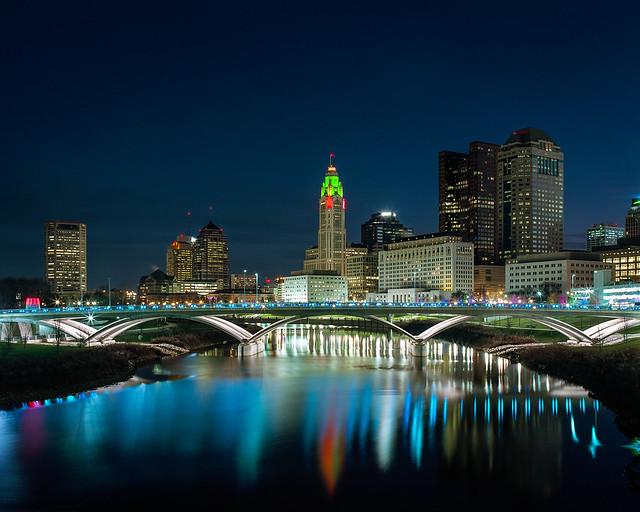 Columbus, Ohio in the Blue Hour
