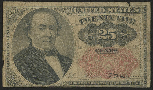 1874 Twenty-Five Cents Fractional Note face