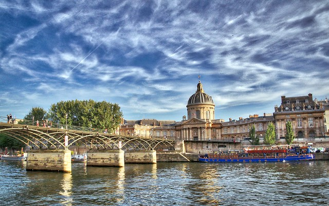 River Seine with Pont des Arts and Institut de France