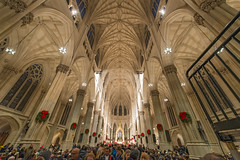 Saint Patrick's Cathedral On Christmas