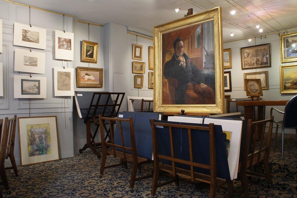 Galerie d'art dans le quartier Saint Jean à Lyon.