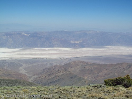 Badwater Flats from Bennett Peak in Death Valley National Park, California