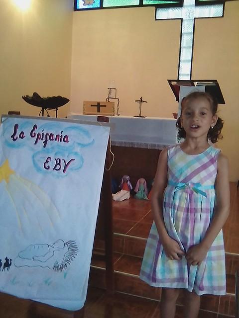 Anyi Garrido in vacation Bible school.