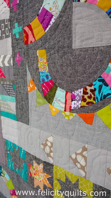 Quilting detail on the New York Beauty starter block