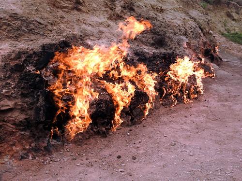 Azerbaijan - Yanar Dag - La montagna che brucia