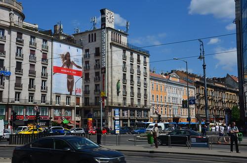 Panorama einer Strasse in Budapest