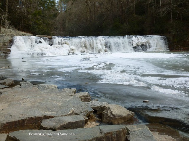 Hooker Falls January 2018 Winter Freeze at From My Carolina Home