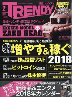 EXCEED MODEL ZAKU HEAD 夏亞專用薩克II(Anime Color Ver.)《日經TRENDY》 2018年2月號増刊特別版 附錄