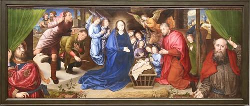 Hugo van der Goes. Adoration of the Shepherds (c. 1480)