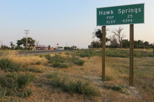 Entering Hawk Springs (Hawk Springs, Wyoming)