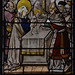 Shrewsbury, Shropshire, St. Mary the Virgin, nave, south aisle, stained glass window, presentation of Jesus in the temple