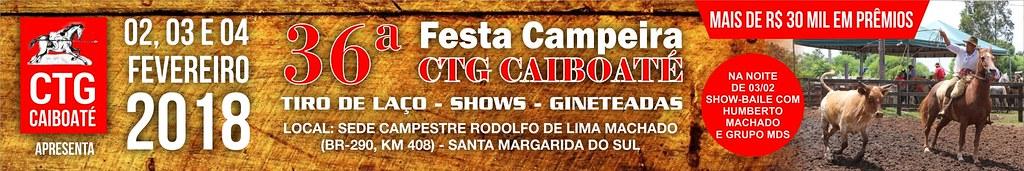 Anúncio 36ª Festa Campeira CTG Caiboaté