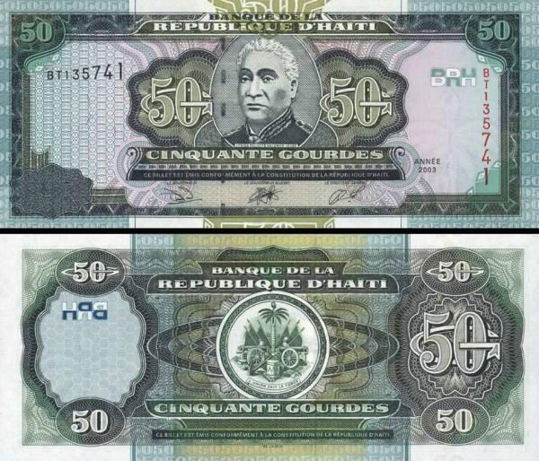 50 Gourdes Haiti 2003, P267b