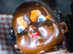 Creepy doll head
