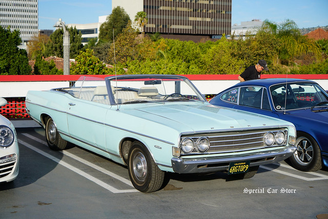 1969 Ford Fairlane 500 convertible at Petersen Automotive Museum Breakfast Club Cruise-In