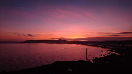 onchan onchanhead isleofman sunset sky douglasbay
