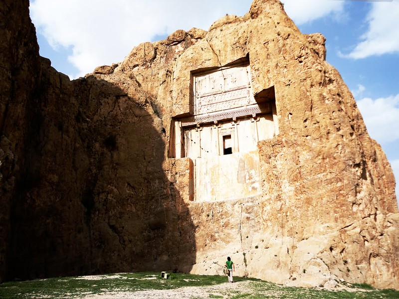 The Rock-cut tomb at Naqsh-e Rustam, usually assumed to be that of Xerxes I