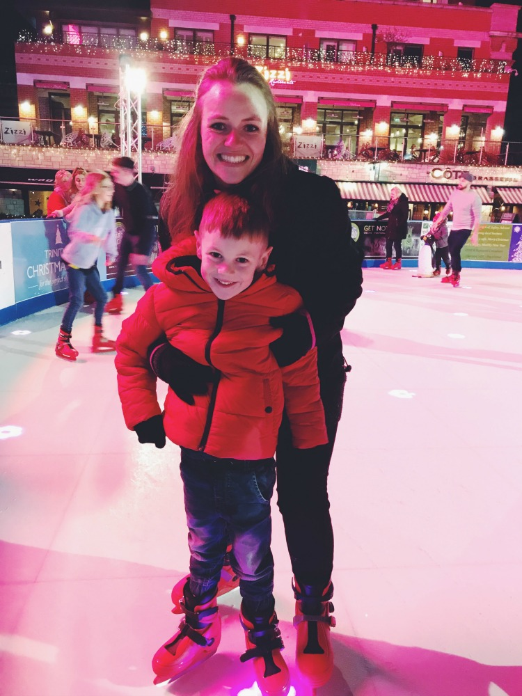 Mummy and M ice skating