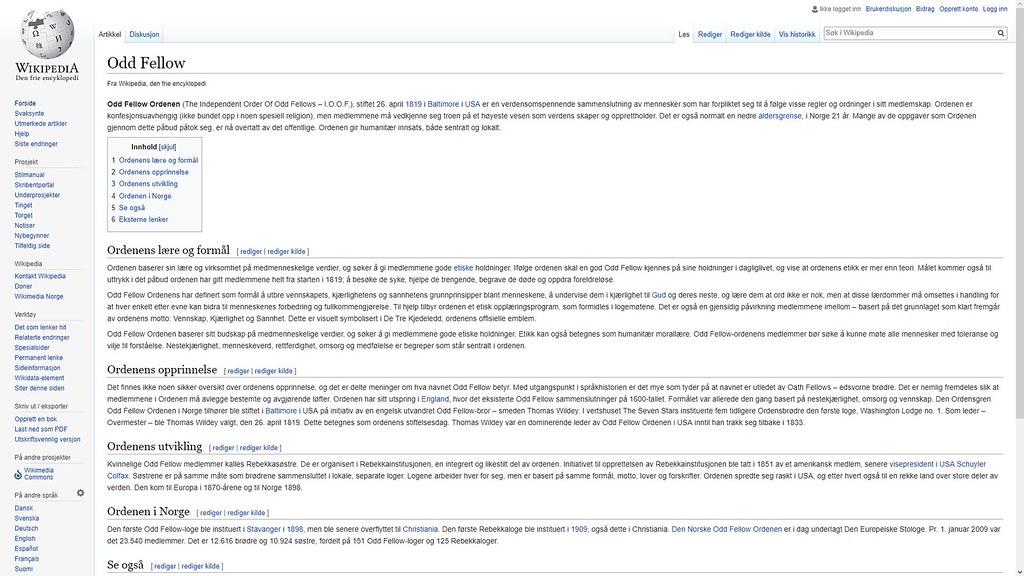 odd fellow mer om wiki