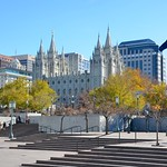 As seen from the LDS Conference Center courtyard.