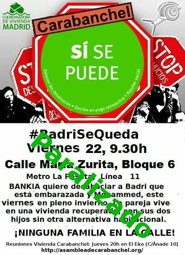 #BadriSeQueda Parado!