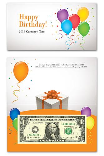 BEP 2818 Happy Birthday note