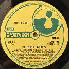 DEEP PURPLE:THE BOOK OF TALIESYN(LABEL SIDE-A)