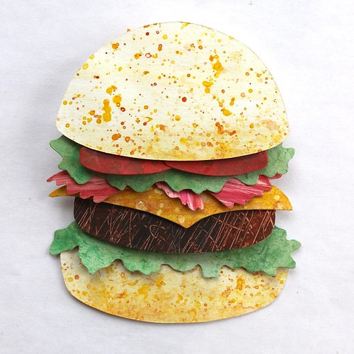 Paper Art Burger by Annemarieke Kloosterhof