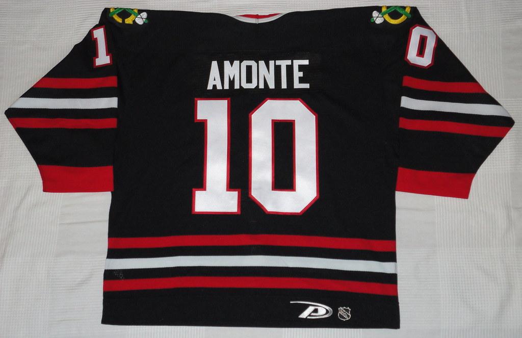 1999-2000 Tony Amonte Chicago Blackhawks Alternate Jersey Back