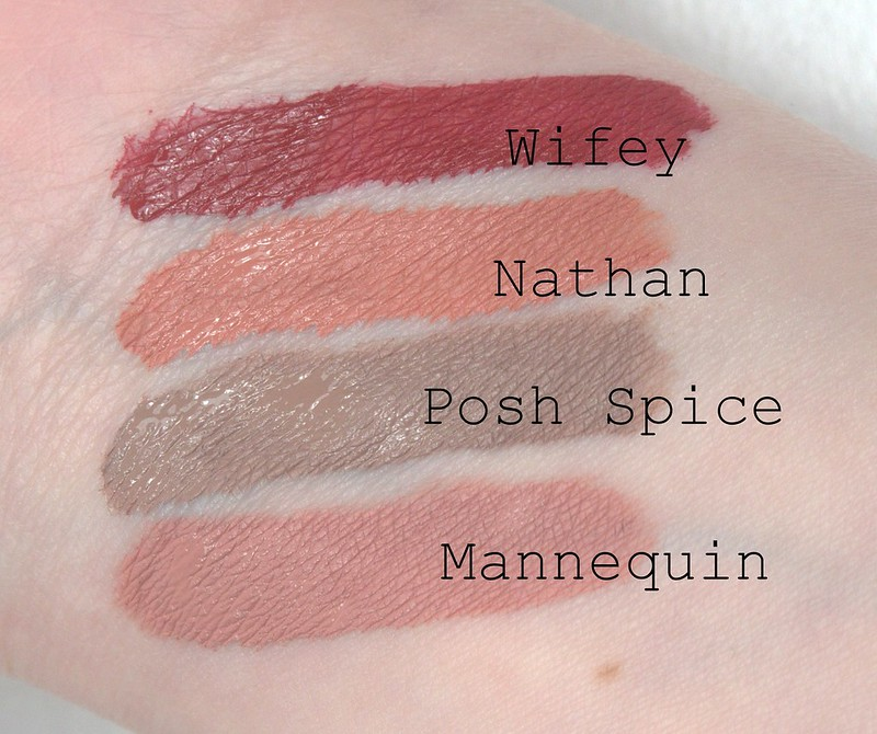 Jeffree Star Liquid Lipstick swatches