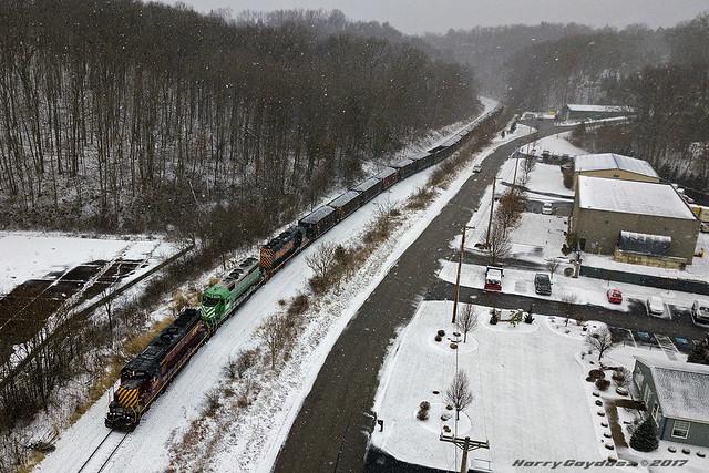 Southwest Pennsylvania Railroad EMD SD40-2 3504