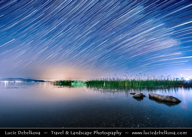 Macedonia (FYROM) - Ohrid Lake - Night Sky with Startrails