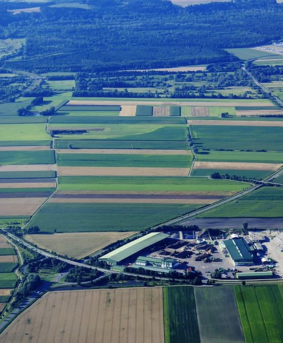 Aerial shot, Wurzer composting plant near Munich A