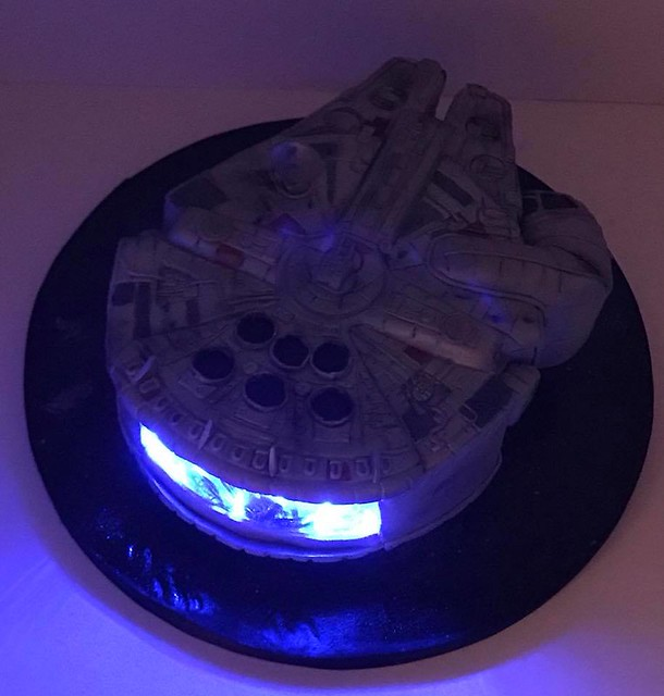 The Millennium Falcon and it lights up! by Danette Kessler